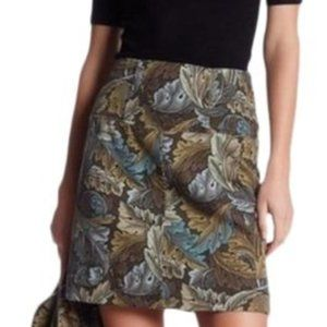 Marc by Marc Jacobs Acanthus Army Cotton Skirt